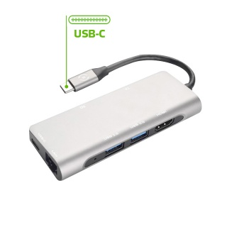 USB-C Adapter na USB 3.0, HDMI, TF i SD karticu + LAN port
